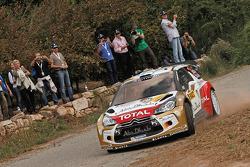 Mikko Hirvonen and Jarmo Lehtinen, Citroën DS3 WRC, Citroën Total Abu Dhabi World Rally Team