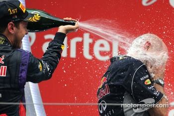 Sebastian Vettel, Red Bull Racing and Adrian Newey, Red Bull Racing