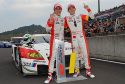 GT300 champions Hideki Mutoh, Yuhki Nakayama
