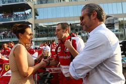 (L to R): Tamara Ecclestone, with Stefano Domenicali, Ferrari General Director and Maurizio Arrivabene, Marlboro Europe Brand Manager on the grid