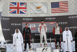 Race winner Tio Ellinas, second place Dean Stoneman, third place Conor Daly