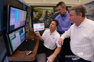 Scott Pruett visits with Ford engineers