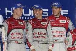 Race winners Andre Lotterer, Benoit Tréluyer, Marcel Fässler