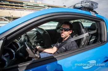 Pace car rides with Aric Almirola, Richard Petty Motorsports Ford