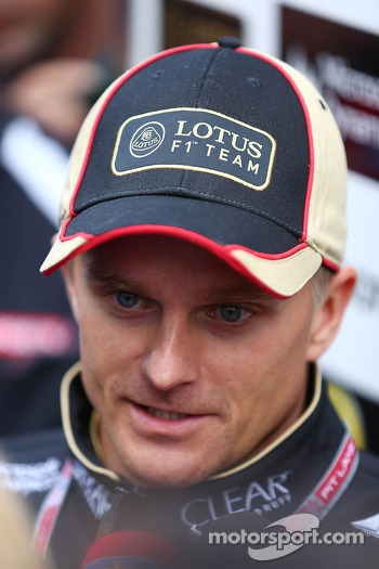 Heikki Kovalainen, Lotus F1 Team with the media