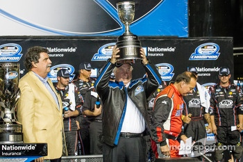 Championship victory lane: NASCAR Nationwide Series 2013 champion owner Roger Penske