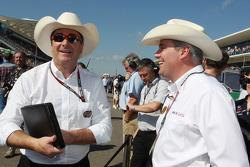 Nigel Mansell, (Left) FIA Steward