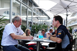 (L to R): Dr Helmut Marko, Red Bull Motorsport Consultant with Christian Horner, Red Bull Racing Team Principal