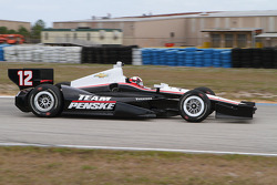 Juan Pablo Montoya tests the Team Penske Chevrolet