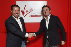 Alex Tai, Virgin Racing and Alejandro Agag, CEO Formula E