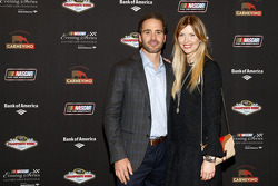 Jimmie Johnson and wife Chandra Johnson at the NASCAR Evening Series