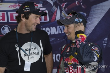 Nathan Hindmarsh with Casey Stoner