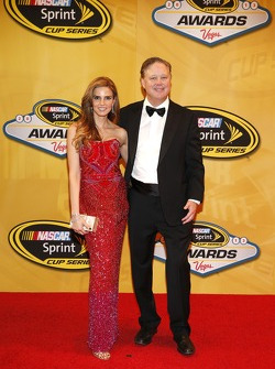 NASCAR Chairman and CEO Brian France and wife Amy France arrive on the red carpet