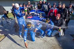 Overall winners #24 Rotek Racing Audi TT RS: Jeff Altenburg, Robb Holland, Roland Pritzker, Robert Huff