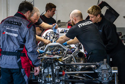 SpeedSource Mazda team members at work