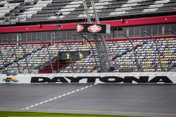 A wet Daytona International Speedway