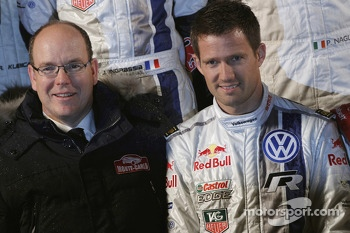 Prince Albert II and Sébastien Ogier