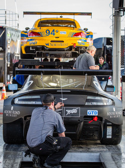 #009 TRG-AMR Aston Martin V12 Vantage at technical inspection