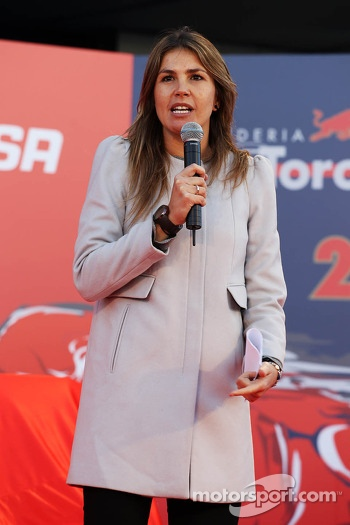 Nira Juanco, Antena 3 TV Presenter at the Scuderia Toro Rosso STR9 unveiling