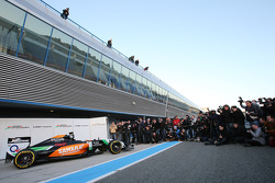 The new Sahara Force India F1 VJM07 is unveiled