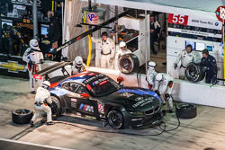 Pit stop for #55 BMW Team RLL BMW Z4 GTE: Bill Auberlen, Andy Priaulx, Joey Hand, Maxime Martin