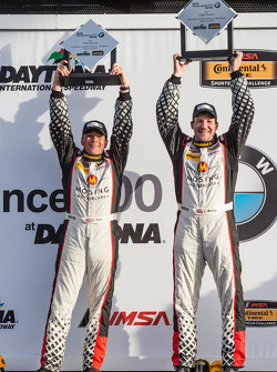 IMSA: ST podium: class winners Jeff Mosing and Eric Foss