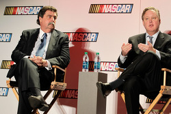 NASCAR President Mike Helton with NASCAR CEO and Chairman Brian France