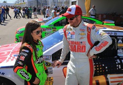 Danica Patrick, Stewart-Haas Racing Chevrolet and Dale Earnhardt Jr., Hendrick Motorsports Chevrolet