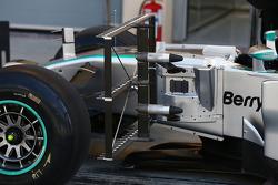 Mercedes AMG F1 W05 running sensor equipment