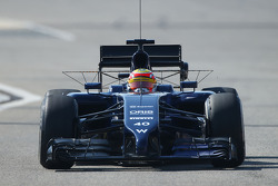 Felipe Nasr, Williams FW36 Test and Reserve Driver running sensor equipment