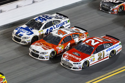 Trevor Bayne, Kevin Harvick and Jimmie Johnson