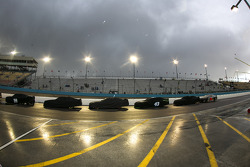 Rain suspends race action