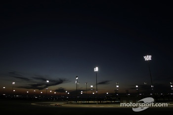 Sebastian Vettel, Red Bull Racing RB10 running under the lights at night time