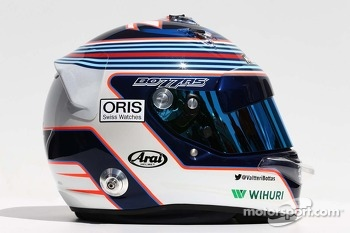 The helmet of Valtteri Bottas, Williams