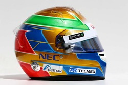 The helmet of Esteban Gutierrez, Sauber