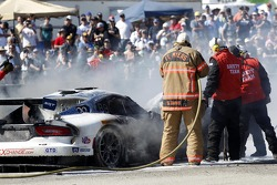 Trouble for the #33 Riley Motorsports SRT Viper GT3-R: Ben Keating, Jeroen Bleekemolen, Sebastiaan Bleekemolen