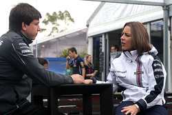 Toto Wolff, Mercedes AMG F1 Shareholder and Executive Director and Claire Williams, Williams Deputy Team Principal 16