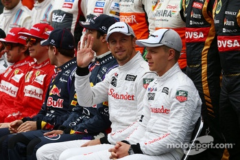 Jenson Button, McLaren at the drivers start of season photograph