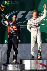 F1 Fotos - Daniel Ricciardo, Red Bull Racing y Nico Rosberg, Mercedes AMG F1 Team