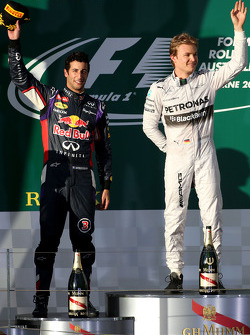Daniel Ricciardo, Red Bull Racing and Nico Rosberg, Mercedes AMG F1 Team