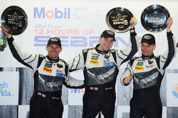 TUSC: GTD class podium: winners John Potter, Andy Lally, Marco Seefried