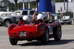 HoF Charity Laps: Derek Bell drives the Ferrari 250 Testa Rossa