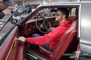 Dale Earnhardt Jr. gets behind the wheel of Elvis' prized 1973 Stutz