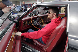 Dale Earnhardt Jr. gets behind the wheel of Elvis' prized 1973 Stutz