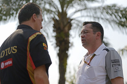 (L to R): Federico Gastaldi, Lotus F1 Team Deputy Team Principal with Eric Boullier, McLaren Racing Director