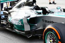 Mercedes AMG F1 W05 sidepod detail