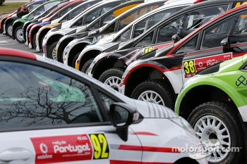 42 Ford Fiestas in the Rally Portugal