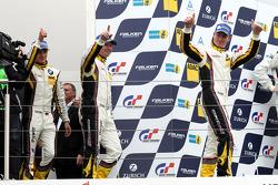 Podium: winners Maxime Martin, Uwe Alzen, Marco Wittmann