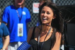Kristen Dee, girlfriend of James Hinchcliffe, Andretti Autosport Honda