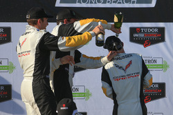 Corvette drivers celebrate